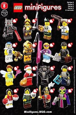 New Lego 8833 Series 8 Collectible Minifigure Series Full Complete Set Of 16