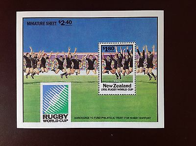New Zealand 1991 Rugby World Cup Minisheet MNH