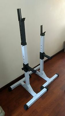Heavy duty adjustable gym squat barbell rack stand press weight bench