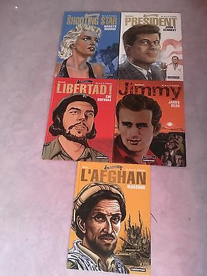 Lot 5 Bd Collection Rebelles Marylin Che Kennedy Massoud Dean Jf Charles Ttes EO
