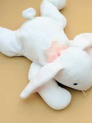 Ty Pillow Pals White Bunny Rabbit Soft Toy Clover Cuddly Plush Teddy 1997