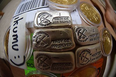 Prospector's Gold And Gems 1oz 999 Silver Poured Bar