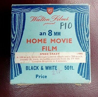 1954 8mm Film Speed Crazy by Walton Home Movies