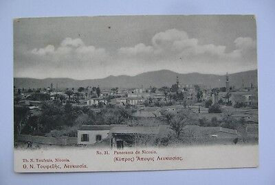 CYPRUS , TUFEXIS  Postcard No 31 panorama of nicosia