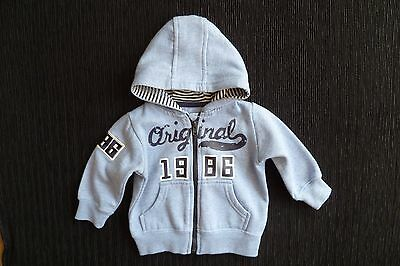 Baby clothes BOY 0-3mblue zip hood jacket sweatshirt-style SEE SHOP COMBINE POST