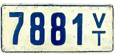 1917 Vermont License Plate #7881 4 Digit Plate