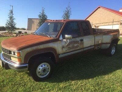 1989 Chevrolet 3500 CK Cowboy Hot Rods & Rat Rod - 454 Dually 1 ton, pick-up 4x4, Patina, one of a kind