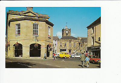 Market Place and Northumberland Hall Alnwick Vintage Postcard