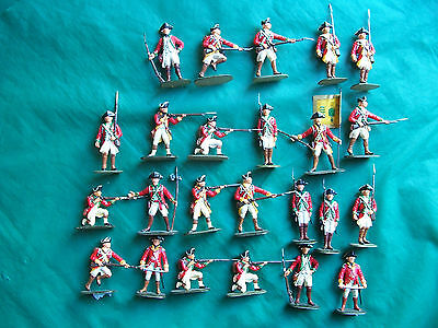 24x 54mm plastic American War of Independence nicely painted British Infantry