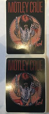RARE Motley Crue Alister Fiend Set Of 5 Stickers 1983 Hair Metal Glam Tommy Lee