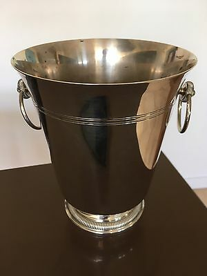 Beautiful Antique French Silver Plated Champagne Bucket Wine Cooler Stamped A C