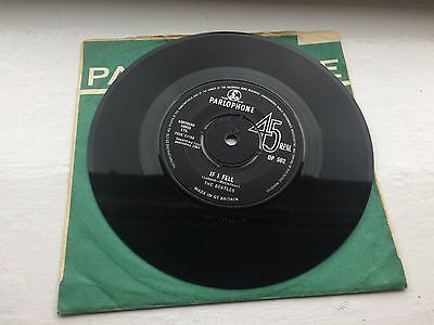 The Beatles If I Fell Uk Export 7""