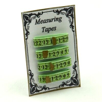 Green Measuring Tape Display ~ 12th Scale ~ Dolls House Miniatures
