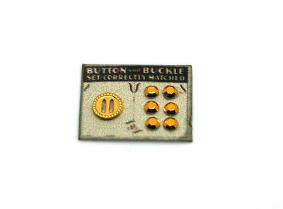 Buckle and Button Card (golden) ~ 12th Scale ~ Dolls House Miniatures