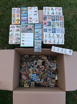 LARGE JOB LOT VINTAGE Worldwide MATCH BOXES See Pictures