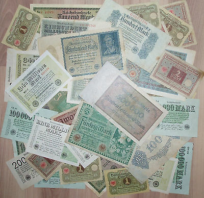 Lot Of 42 Germany Banknotes