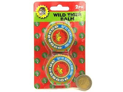 2 x WILD TIGER BALM PAIN RELIEF muscular aches&rheumatism, insect bites, lumbago