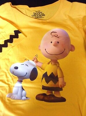 Snoopy And Charlie Brown The Peanuts Film/movie Promo T Shirt Small New Boxed