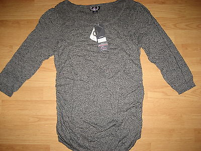 NEW Motherhood Oh Baby maternity womens large sweater knit top shirt $50 gray