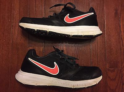Women's Nike Athletic Shoe Size 8 Downshifter 6 Black Coral EUC