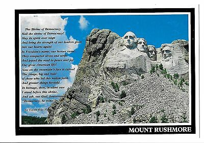 Postcard-MOUNT RUSHMORE THE SHRINE OF DOMOCRACY In South, Dakota