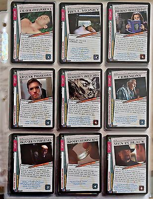THE X-FILES CCG: COMPLETE 101361 SET (inc. ULTRA RARE) 125 Cards +TEAMWORK PROMO