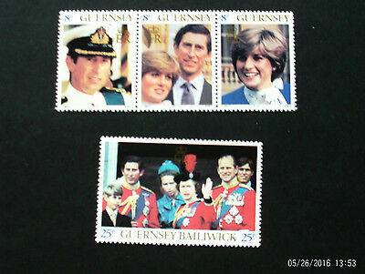Stamps Guernsey Unmounted Mint - 1981 Royal Wedding