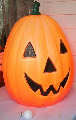 Vintage Halloween Pumpkin Jack O Lantern Blow Mold Light Empire Holiday Decor