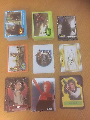 Lot Of Topps Star Wars Journey To The Force Awakens Cards