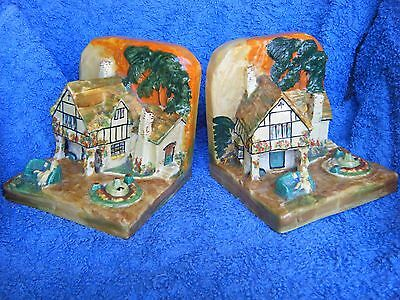 Wilkinson probably Clarice Cliff superb book ends.