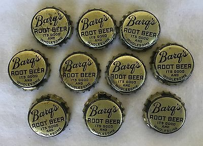 Group of 10 Barq's Root Beer Soda Bottle Caps Cork lined