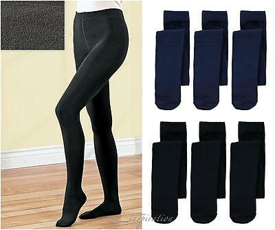 Ladies Full Length Fleecy Winter Warm Stretch Tights Pantyhose ( One Size)