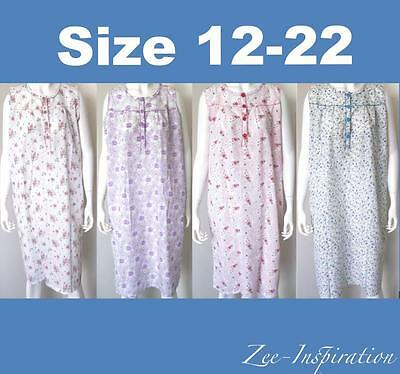 Plus Size Ladies Summer Pyjamas Sleeveless Lightweight Cotton Nightie Sz 12-22
