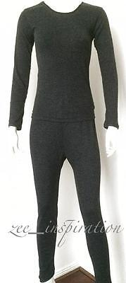 Ladies Crew Neck Merino Wool Thermal Underwear 2pc Set Size 12-22
