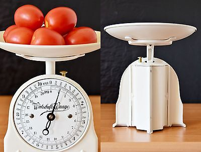 Old Style, Vintage, Antique, Shabby Chic, German Restored White Kitchen Scale