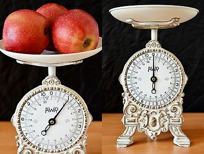 Old Style, Antique, Shabby Chic, Vintage Old Restored German Kitchen Scale WHITE