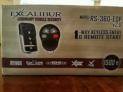 Excalibur - 1 Way Keyless Entry & Remote Start - Model # RS-360-EDP 2.0