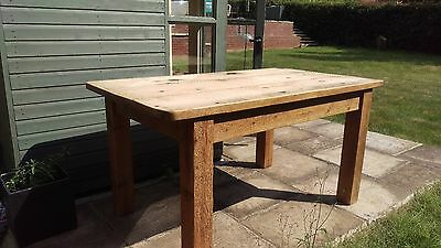 Solid Pine Farmhouse Kitchen Dining Table