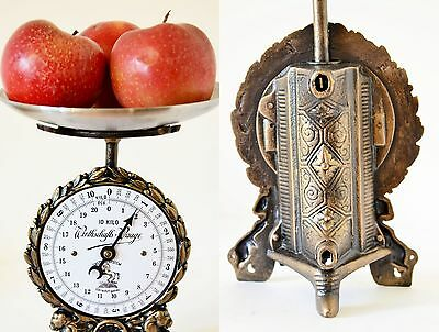 Old Style, Vintage, Antique, Shabby Chic, German Kitchen Scale - TWO LIONS