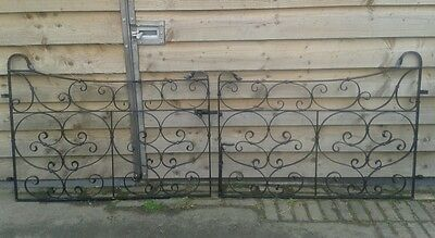Driveway gates with posts and hinges, old Blacksmith made