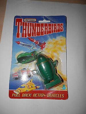 MATCHBOX THUNDERBIRDS - Thunderbird 2 Pull Back Vehicle Carded 1993