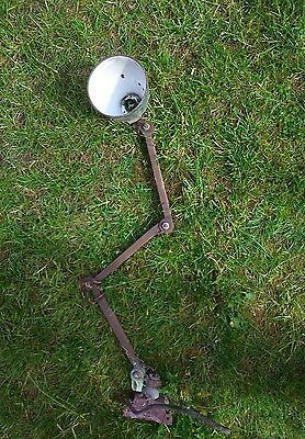 Vintage Industrial machinist Anglepoise lamp light Barn Find, Beautiful Patina.