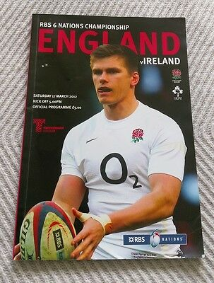2012 RBS 6 Nations England V Ireland programme