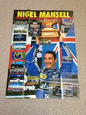 Nigel Mansell Newspaper Clippings And Posters
