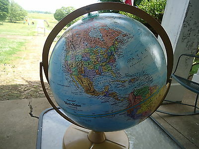 Vintage Replogle World Nation Series 12-Inch Diameter Globe with Metal Base