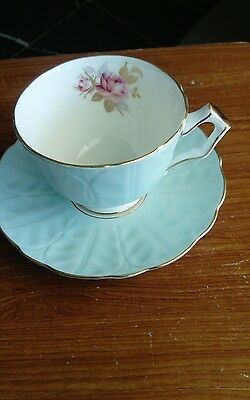 Aynsley Blue Crocus Extra Large Cup And Saucer