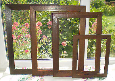 4 ANTIQUE/VINTAGE WOODEN PICTURE FRAMES - Good condition (Indiv. images)