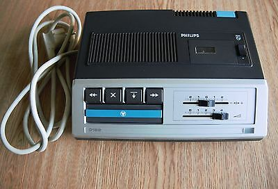 Vintage Philips Micro Cassette Tape Player Recorder /office Dictation