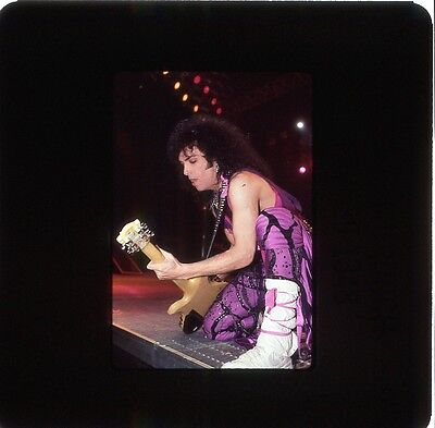 Kiss Paul Stanley 4 Original Color  35Mm Slides 1985 From Circus Magazine