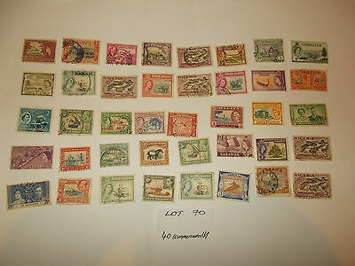 Stamps GB 40 Old World Commonwealth Stamps Used and Mint Conditions L070